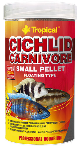 Tropical Cichlid Carnivore Small Pellet 1000ml