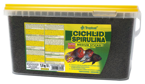 Tropical Cichlid Spirulina Medium Sticks 5 Liter